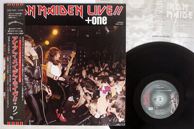 IRON MAIDEN LIVE + ONE EMI EMS-41001 Japan OBI VINYL LP12