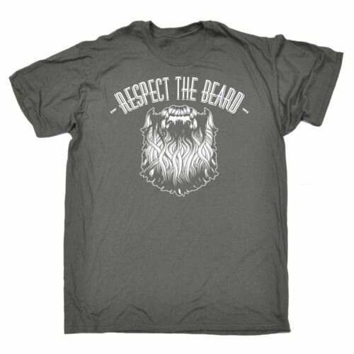 Respect The Beard MENS T-SHIRT birthday bearded man facial hair alpha funny
