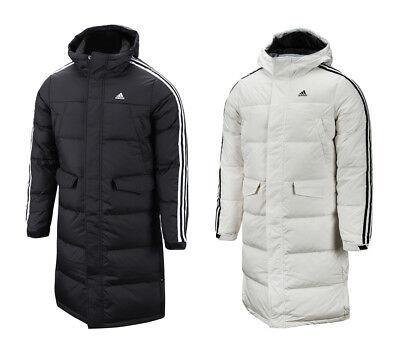 Adidas 3S Long Parka (DT7921) Down Coat Hooded Winter Jacket   eBay