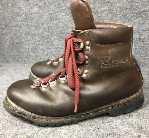 Details about Mens Kastinger Hiking Mountaineering Brown Leather Boots Sz 9.5