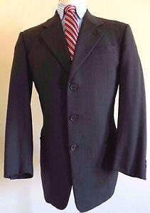 new product 7c704 2bb19 Details about Giorgio Armani Collezioni Suit 40L Brown Mens 3 Button Lined  Size Wool Sz Long