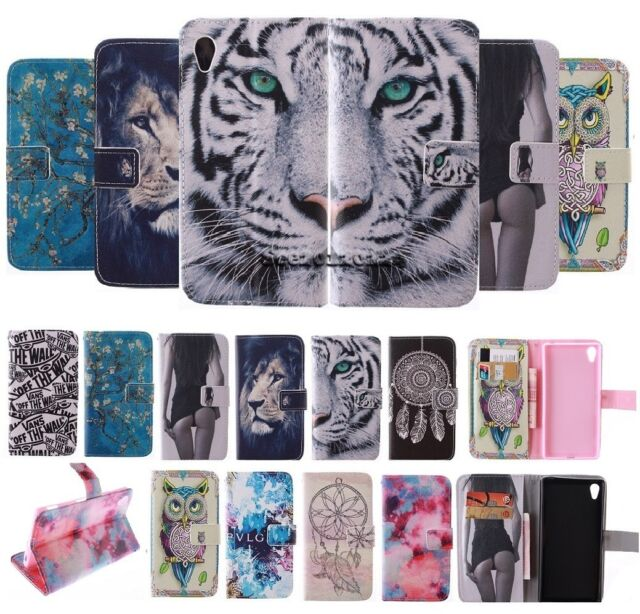 For Various Phone Patterned Magnetic Wallet Flip Card Holder Leather Cover Case