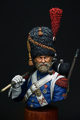 Resin soldier, museum, bust, French Sapper Foot Grenadier of Old Guard, 1:10