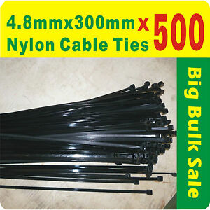 400 x White Nylon Cable Ties 2.5mmX 200mm 3 x200mm Free Postage