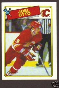 1988 89 Opc Hockey Joel Otto 242 Calgary Flames Nm Mt Ebay
