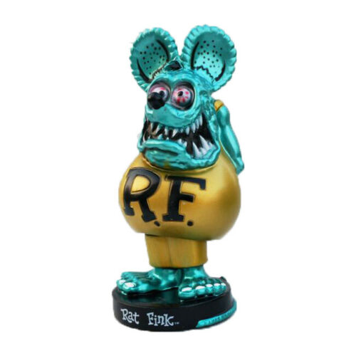 Rat Fink Rare Big Daddy Bobblehead Skateboard Ed Roth Loose Toy Action Figure