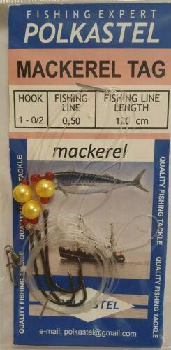5×Sea deep Fishing Rigs set 3hook Mackerel Cod saltwater paternoster soft lure