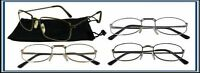 Reading Glasses[+2.25] 4 Pair All Gold Metal Frame Wholesale Assorted Style 2.25
