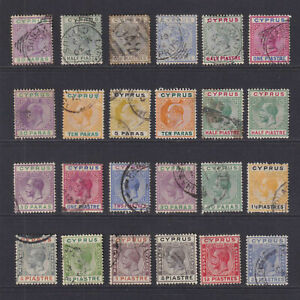 CYPRUS-INTERESTING-MINT-AND-USED-COLLECTION-REMOVED-FROM-ALBUM-PAGES-W401