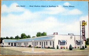 1940s-Cairo-Illinois-Postcard-039-039-City-Motel-039-039-IL-Ill