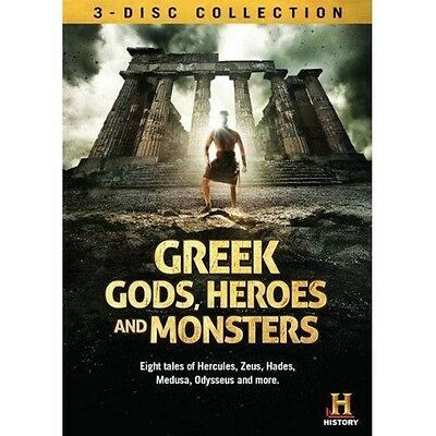 GREEK GODS, HEROES AND MONSTERS - 3 DVD HISTORY CHANNEL SET - OVER 7 HOURS !!!