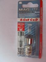 Maglite Lmxa401 Magnum Star Ii Xenon 4-cell C & D Bulb Genuine Mag Package Of 2