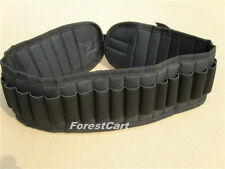 Black Hunting Shotgun Cartridge Shell Belt Holders,30 Bullet Pouches Strip
