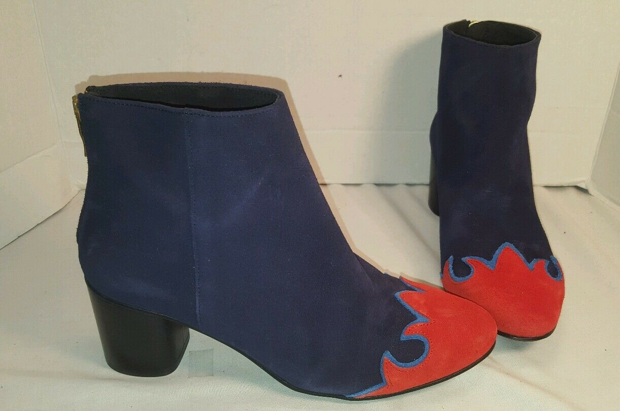 NEW FREE PEOPLE ADELLE Blau COMBO SUEDE ANKLE Stiefel US US US 8 EUR 38 011212