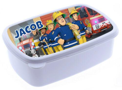 Fireman Sam childrens lunch box personalised lunch box