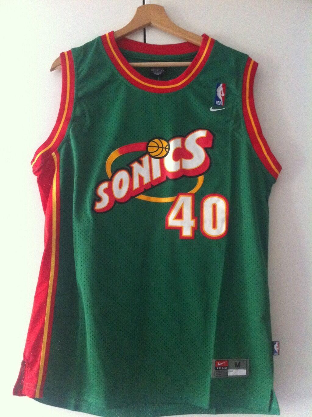 Canotta nba basket maglia Shawn Kemp jersey Seattle Supersonics New S M L XL XXL