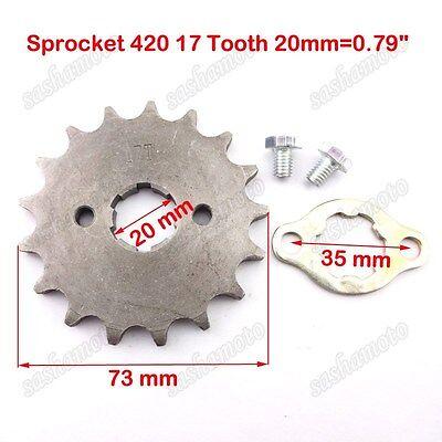 420 16T 17mm Front Engine Sprocket Replacement for 50cc 70cc 110cc 125cc 140cc 160cc ATV Dirt Bike Quad TaoTao Roketa Sunl