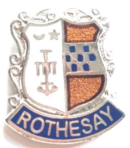 Rothesay Scotland Small Enamel Lapel Pin Badge T069
