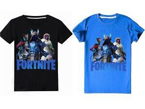 Boys kids Fortnite Chapter 2 Winterfest Raven Black Blue T-shirt top gaming 4-14