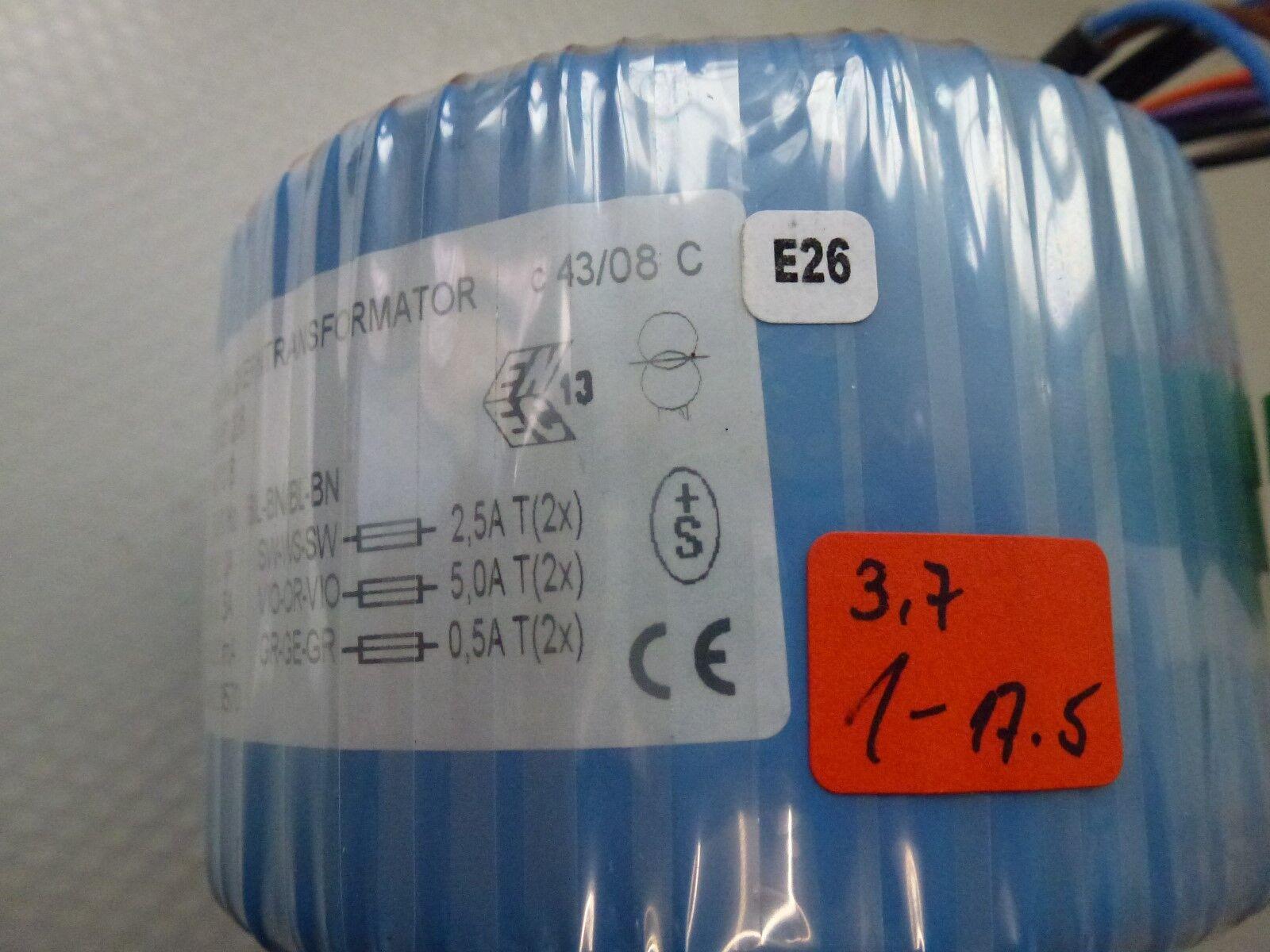Sedlbauer RSO-826039 /> 2x15V 1x30V Ringkerntrafo 200VA 230V