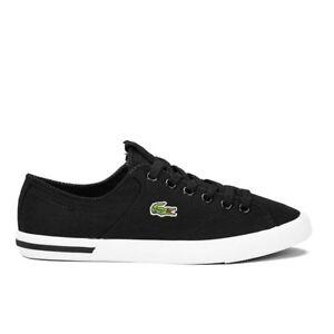 super quality attractive price official photos Details about Lacoste Ramer LCR2 SPM # 7-27SPM107702H Black Canvas Sneaker  Men SZ 8 - 11