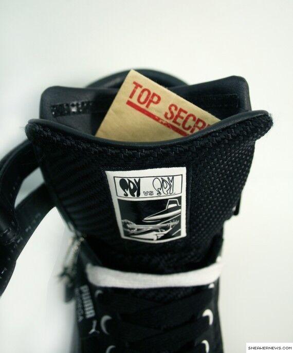 Puma Spy 2 High Black White Sneakers 346915 01 Vs Mens Size 10.5 Spy Vs 01 Spy MADtv 3ced8e