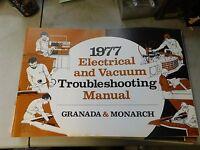1977 Ford Granada Electrical Vacuum Troubleshooting Manual Evtm Shop Manual