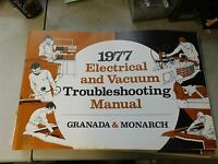 1977 Ford Granada Electrical Vacuum Troubleshooting Manual Evtm Shop Manual