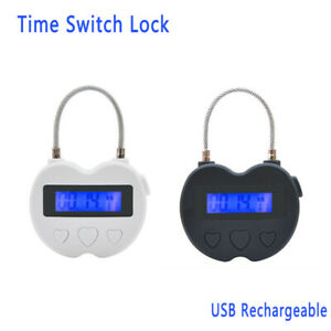 Details about Digital Timer Switch USB Rechargeable Time Switch Lock  Padlock For Accessories