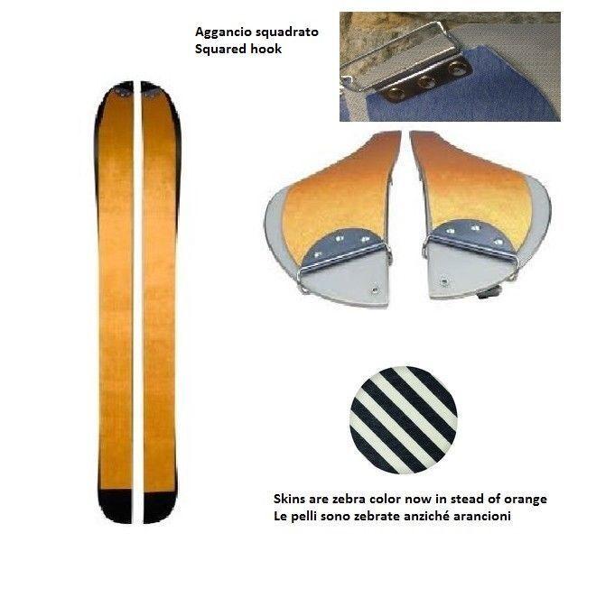 Pelli di foca per splitboard, split skins for split board max length 160cm