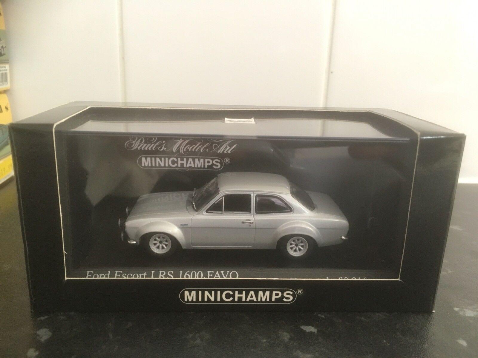Minichamps Ford Escort Mk1 RS1600 Favo argent  métallisé 1 43 En parfait état, dans sa boîte LTD ED  meilleure vente