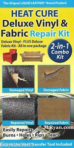 Liquid Leather Heat Cure Deluxe Vinyl Amp Fabric Repair Kit
