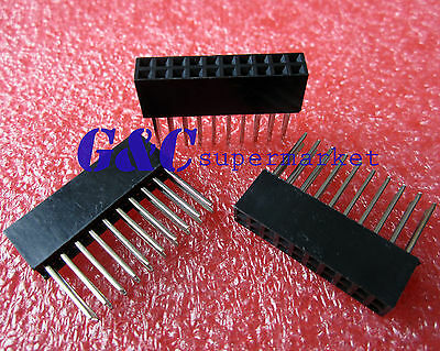 50PCS 2X10 Pin 2.54 mm Stackable 11mm Long Legs Female Header For Arduino Shield