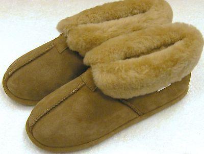 Shoes Sheepskin Slipper Soft Sole Brown