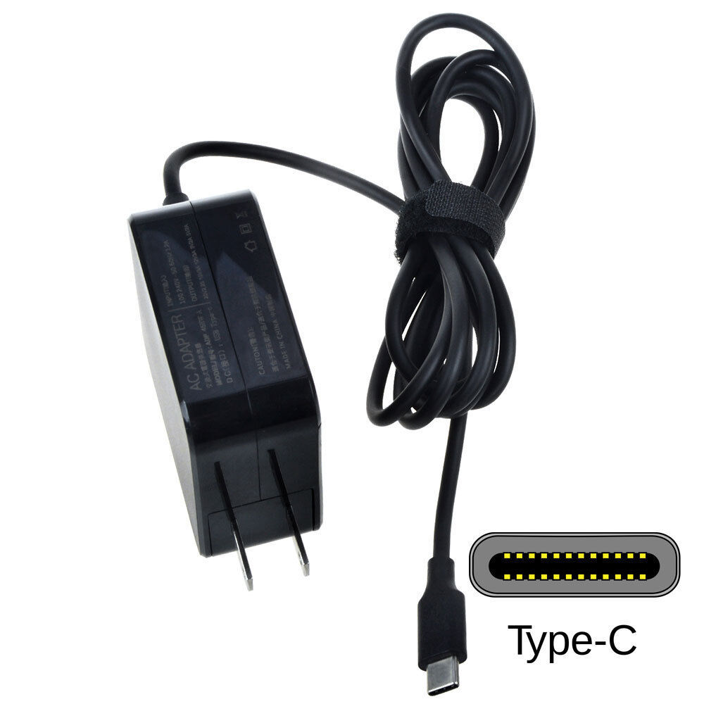 65W USB-C Charger AC Adapter for Lenovo Miix 80VV001CUS 80VV001HUS Power Cord