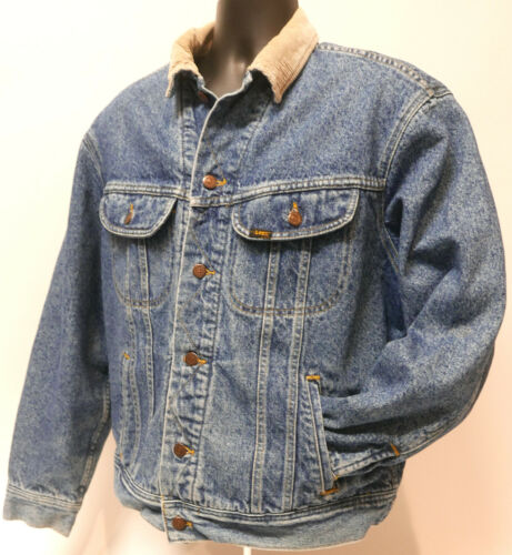 Men's Vtg. Lee Chore USA Blue Jean Denim Jacket Bl