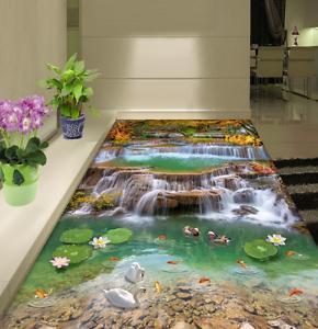 3D Lago De Los Cisnes patos 844 Impresión De Parojo Murales Papel de parojo de piso AJ Wallpaper Reino Unido Limón