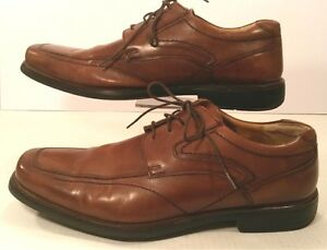 BOSTONIAN Brown Classic Leather Oxford Square Toe Dress Shoes Mens 13M Lite EUC