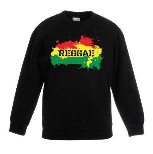 Bob Marley Reggae Splash Rasta Children/'s Kids Unisex Sweatshirt Jumper