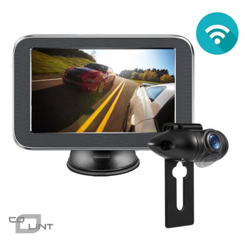 Wireless Car Rear View Camera Kit 5/'/' LCD Monitor W// License Plate Backup Camera