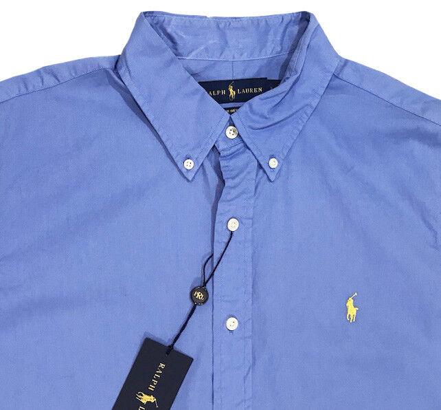 Men's RALPH LAUREN Sea bluee Feather Weight Twill S S Shirt 2XB 2XL BIG NWT NEW