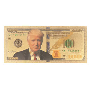 1Pcs 2020 Donald Trump Commemorative Coin President Paper Banknote Non-currency