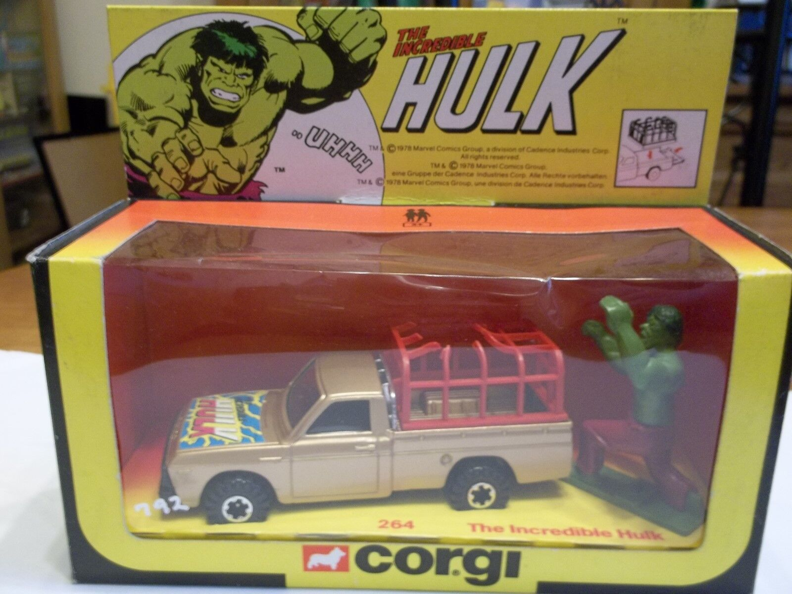 Corgi 264 The Incredible Hulk Mazda - Mint in Excellent Box