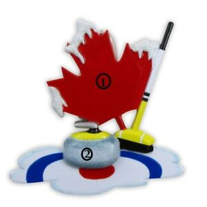 CANADA ICE SPORT GAME CURL CURLING PERSONALIZED CHRISTMAS ...