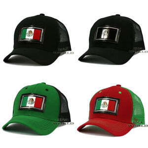 Mexican-hat-Mexico-Flag-Patched-Pique-Snapback-Mesh-Curved-bill-Baseball-cap