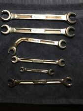 Snap On Sae Chrome Double End Flare Nut Line Wrenches