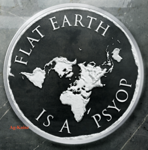 1 oz 2019 Flat Earth Proof InfoIndCom Series #11 Silver Shield Only 579 Minted
