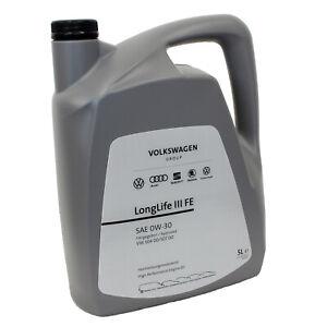[6,50€/L] 5 Liter Original 0W-30 früher 5W-30 VW Audi Seat Skoda Motoröl 504/507