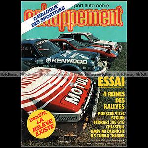ECHAPPEMENT-N-168-OPEL-MANTA-FUEGO-TD-D-PORSCHE-911-SC-BMW-M1-R5-TURBO-1982