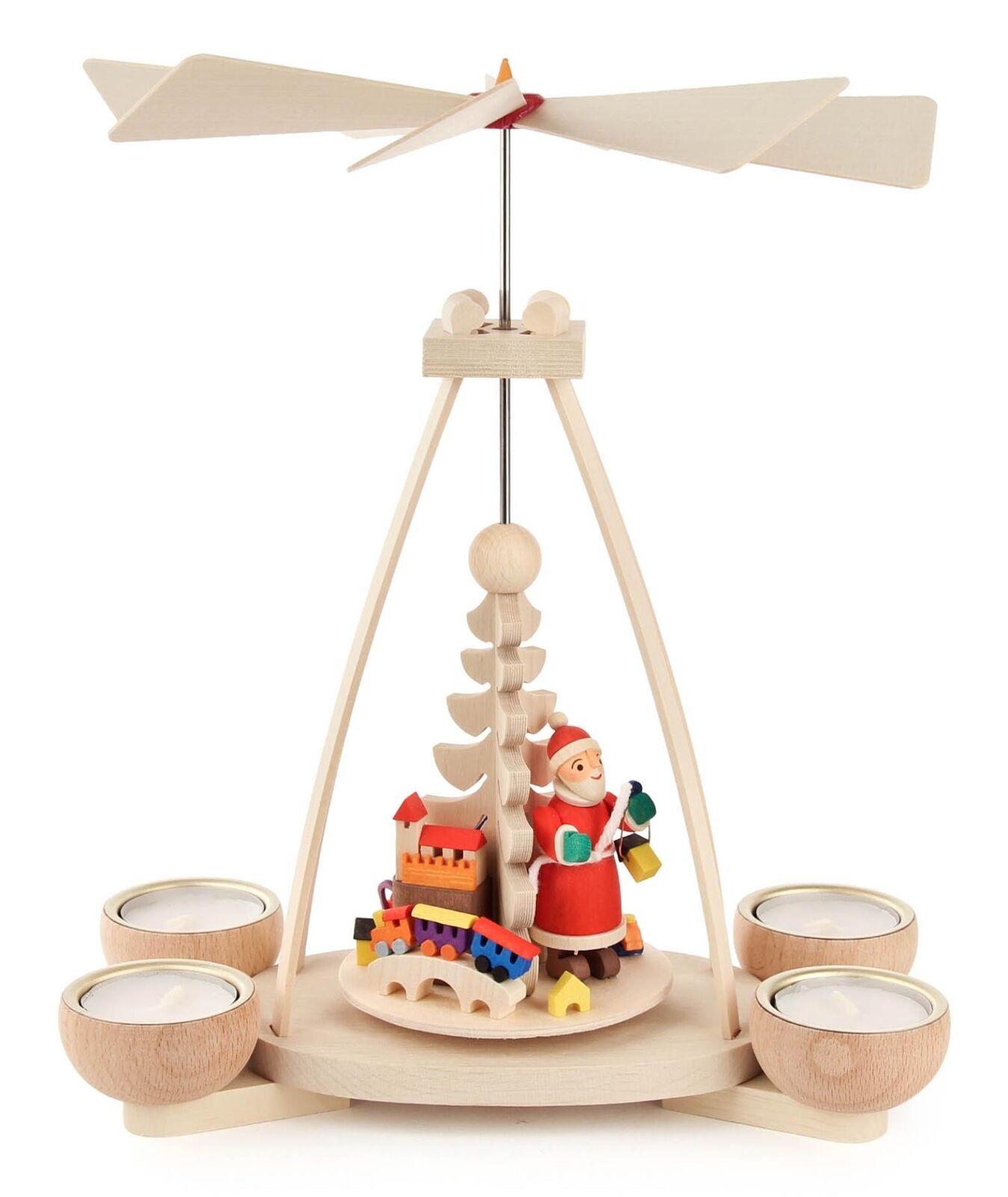 Pyramide mit Weihnachtsmann, für Teelichte  NEU Tischpyramide Tischpyramide Tischpyramide Holzpyramide eb3f13